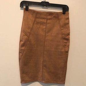 Suede pencil skirt from Charlotte Russe